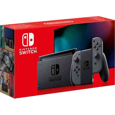Nintendo Switch Konsole Grau (neue Edition)