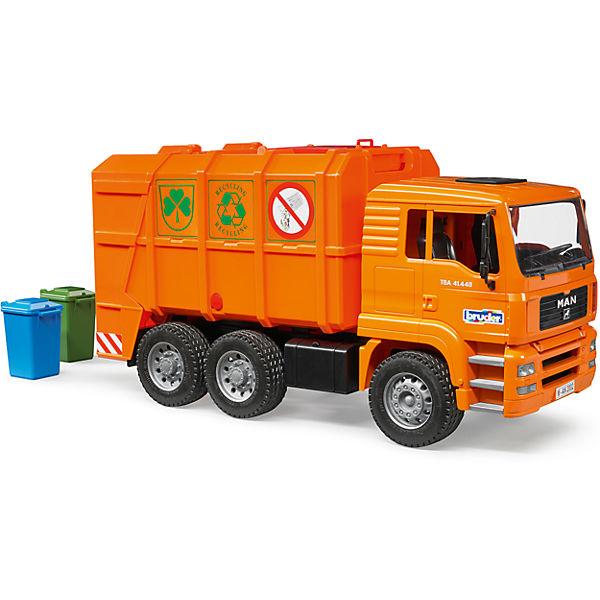 Машинка Bruder Мусоровоз MAN TGA, оранжевый