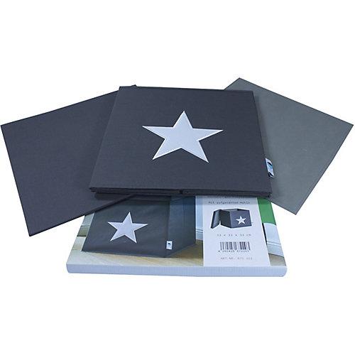 Коробка с крышкой для хранения Store it Звезда, серый - серый от STORE IT!