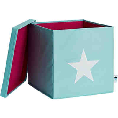 ordnungsbox stern mit stabilem deckel mint wei store it mytoys. Black Bedroom Furniture Sets. Home Design Ideas