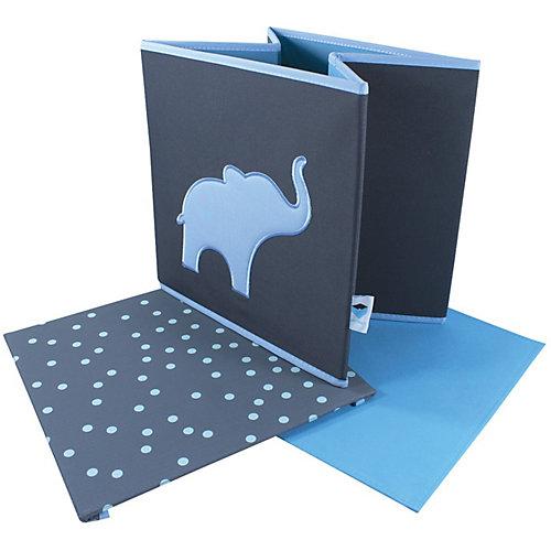 Коробка с крышкой для хранения Store it Слон - сине-серый от STORE IT!