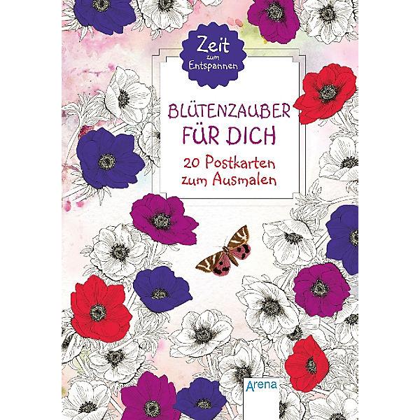 Zelt Zum Ausmalen : Zeit zum entspannen blütenzauber für dich postkarten
