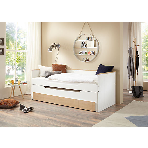 funktionsbett ronny buche mdf bicolor lackiert 90 x 200. Black Bedroom Furniture Sets. Home Design Ideas