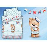 Детское постельное белье 3 предмета Непоседа, Мишка морячок