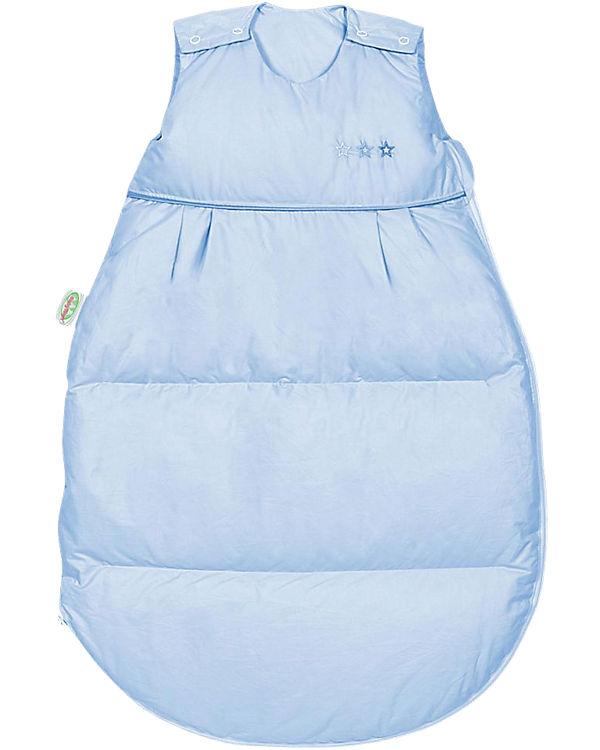Luxus gute Qualität vielfältig Stile Winter- Schlafsack Daunen Thermo-Nest, hellblau, Odenwälder
