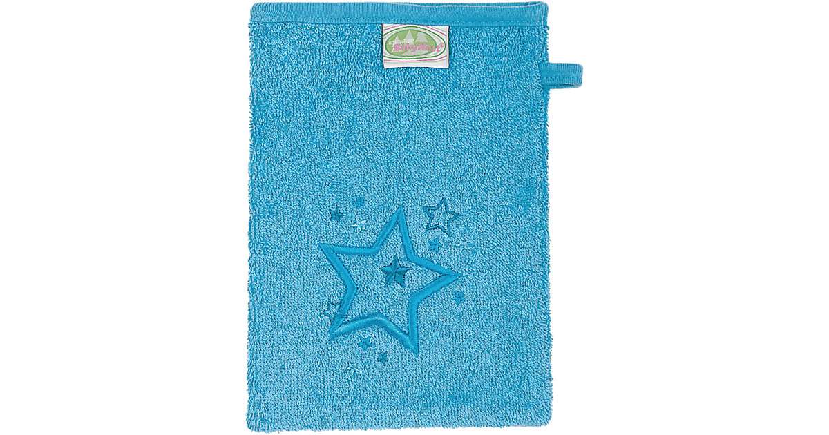 Odenwälder · Waschlappen Sterne, Frottee türkis, 3er Pack