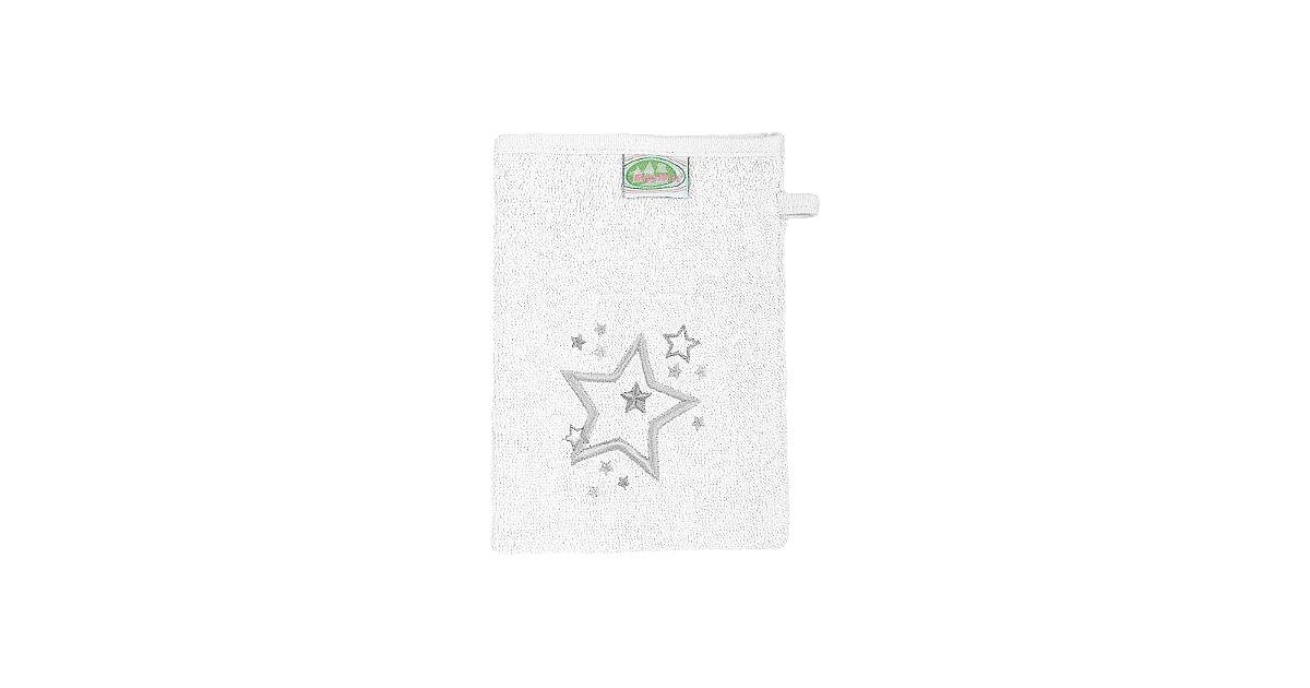 Odenwälder · Waschlappen Sterne, Frottee weiß, 3er Pack