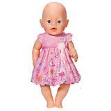Платье для куклы, розовое, BABY born