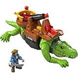 Игровой набор Fisher Price Imaginext - Капитан Крюк и крокодил