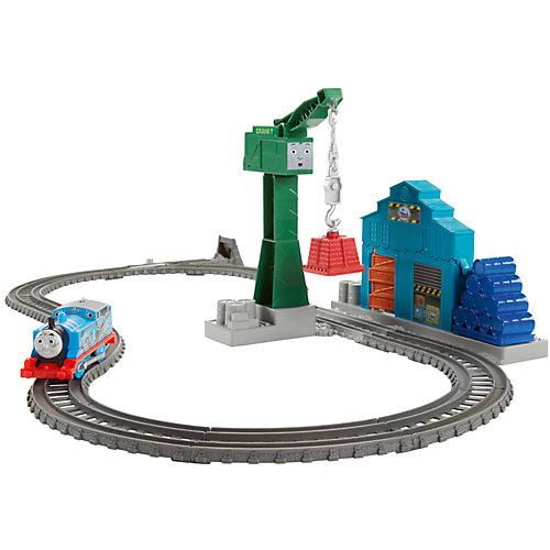 Набор с паровозиком Томасом и подъемным краном Крэнки, Томас и его друзья от Mattel