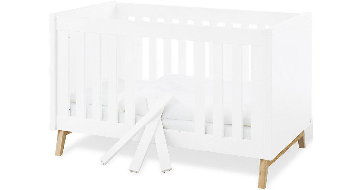 Pinolino · Kinderbett RIVA, 70 x 140 cm, Esche teilmassiv, weiß lackiert