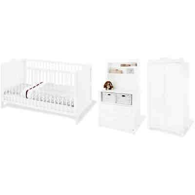 Komplett Kinderzimmer FLORENTINA, 4-tlg. (Kinderbett, Wickelkommode ...