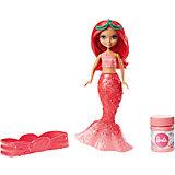Маленькая русалочка Barbie с пузырьками, в красном