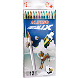 Цветные шестигранные карандаши METALIX (с металлизированным эффектом цвета), 12 цв.