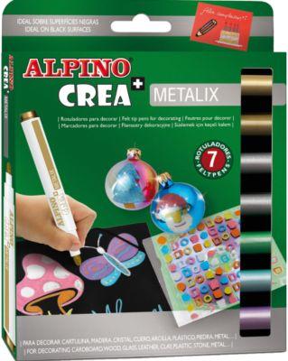Фломастеры CREA METALIX, 7 цв.