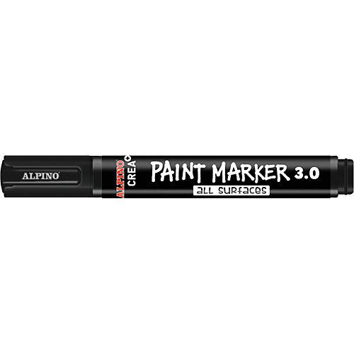 Фломастеры PAINT MARKER, цвет белый/черный, 2 цв. от ALPINO