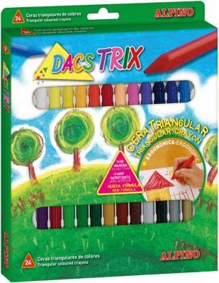 Восковые карандаши трехгранные DACSTRIX, 24 цв.