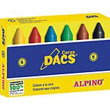 Восковые карандаши Ceras DACS, 6 цв.