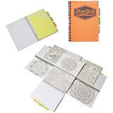 """Оранжевая тетрадь А5 """"Neon book"""" 120 листов, клетка"""