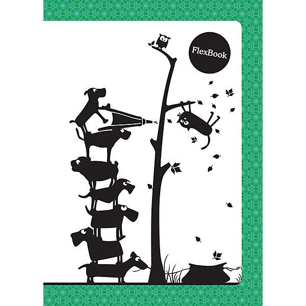 """Зеленая тетрадь А5 """"Flex book"""" 80 листов, клетка"""