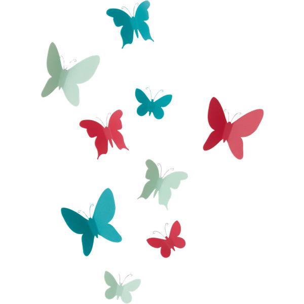 """9-tlg. Wanddekoration Set """"Schmetterlinge"""", Umbra"""