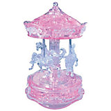 """Кристаллический пазл 3D """"Розовая карусель"""", Crystal Puzzle"""