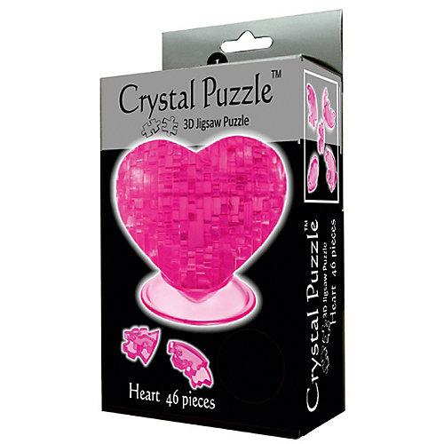 "Кристаллический пазл 3D ""Сердце"", Crystal Puzzle от Crystal Puzzle"