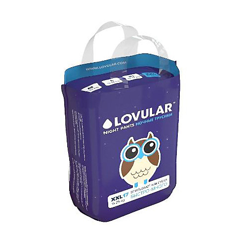 Трусики-подгузники Lovular Night XXL 15-25 кг, 17 шт - разноцветный