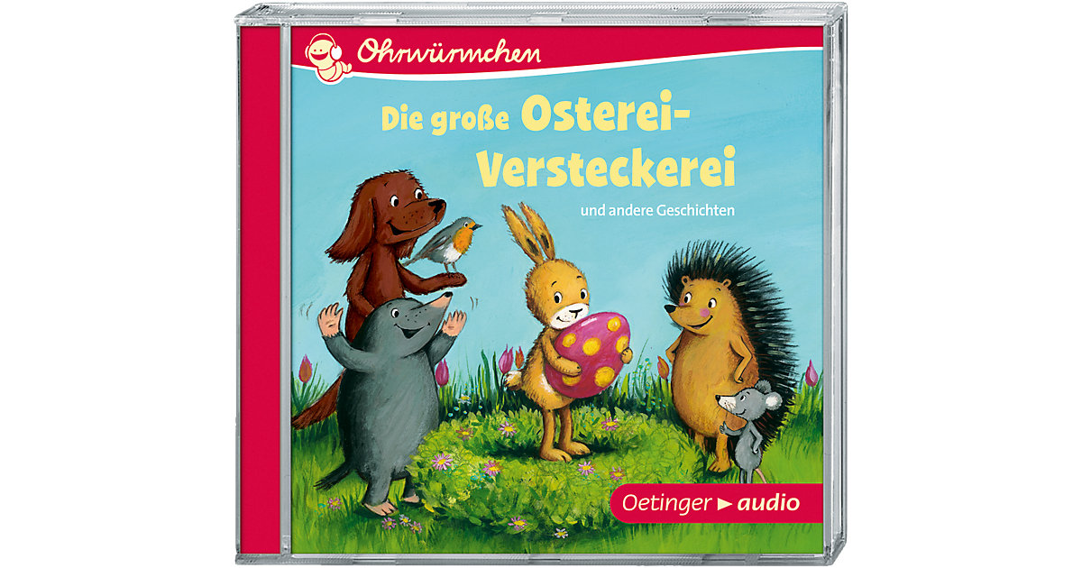 Ohrwürmchen: Die große Osterei-Versteckerei und andere Geschichten, 1 Audio-CD Hörbuch