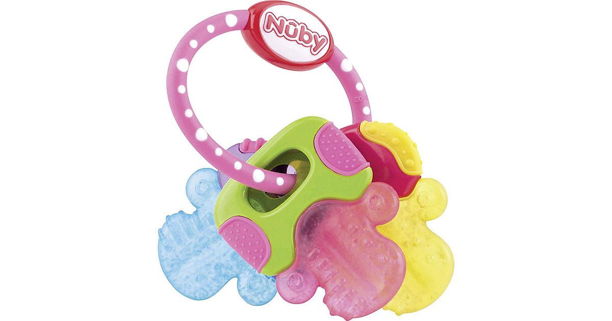 Nuby · Beißring Schlüssel mit Eisgel, pink