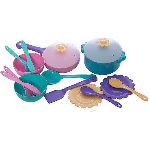 """Набор игрушечной посуды в сумочке """"Бабочка"""", 16 предметов, Mary Poppins от Mary Poppins"""