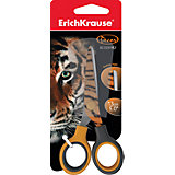 Ножницы Erich Krause Junior Decor Tiger с принтом на лезвиях, 13 см