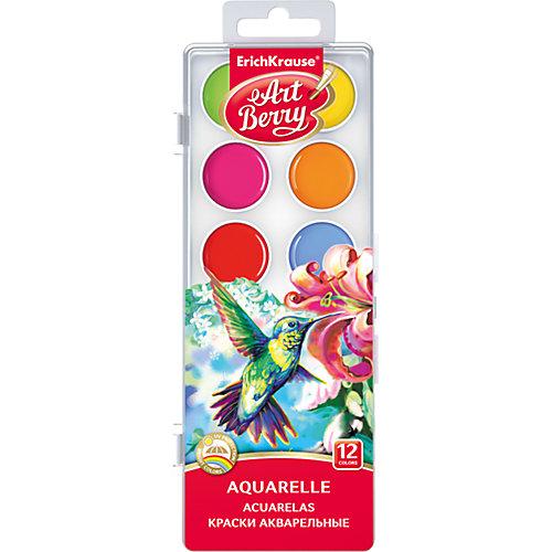 Краски акварельные ArtBerry, 12 цветов с УФ защитой яркости от Erich Krause