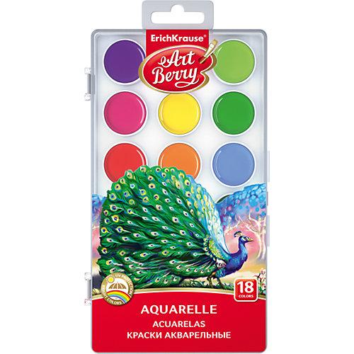 Краски акварельные ArtBerry, 18 цветов с УФ защитой яркости от Erich Krause