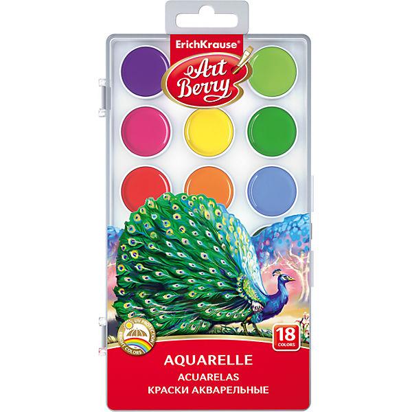 Краски акварельные ArtBerry, 18 цветов с УФ защитой яркости
