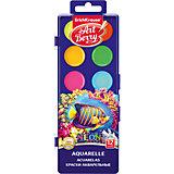 Краски акварельные ArtBerry Неон, 12 цветов с УФ защитой яркости