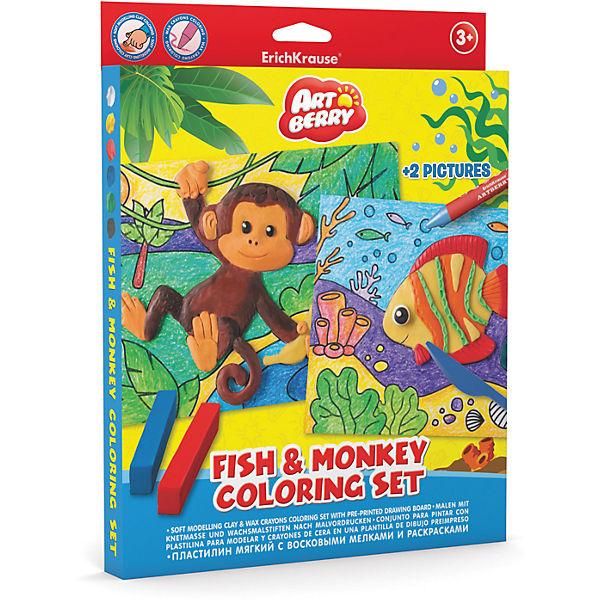 Набор для творчества Fish & Monkey Coloring Set Artberry