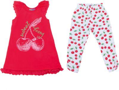 Комплект: майка и леггинсы для девочки Sweet Berry - белый