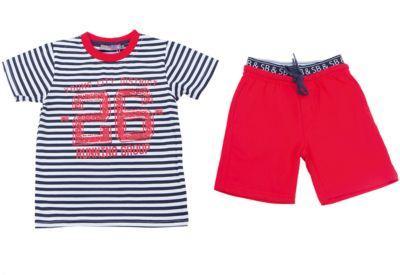 Комплект: футболка и шорты для мальчика Sweet Berry - красный