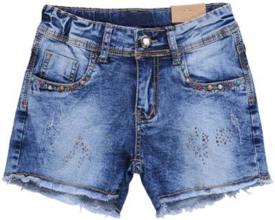 Шорты джинсовые для девочки Luminoso - синий