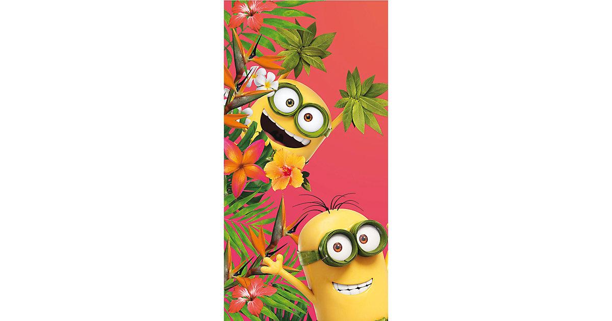 Strand- und Badetuch Minions Flowers, 75 x 150 cm rot | Bad > Handtücher > Saunatücher | CTI