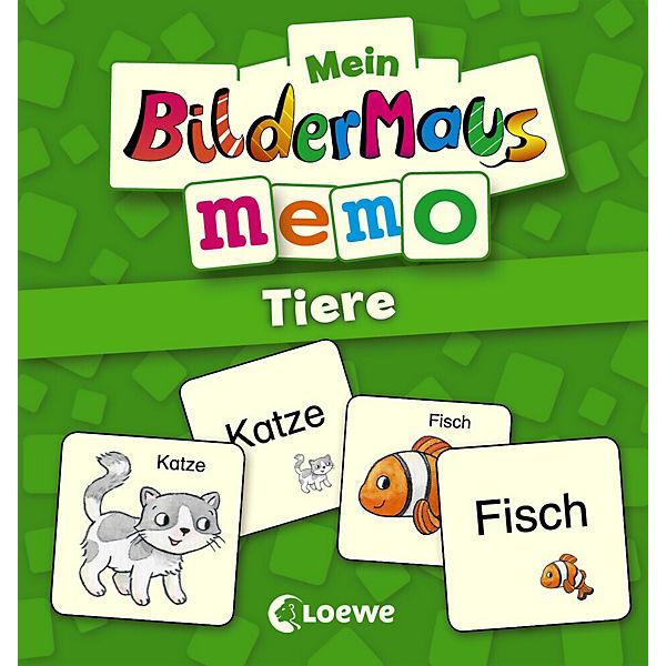 Mein Bildermaus-Memo: Tiere, Loewe Verlag