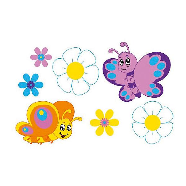 """Раскраска по номерам """"Бабочки-подружки"""""""