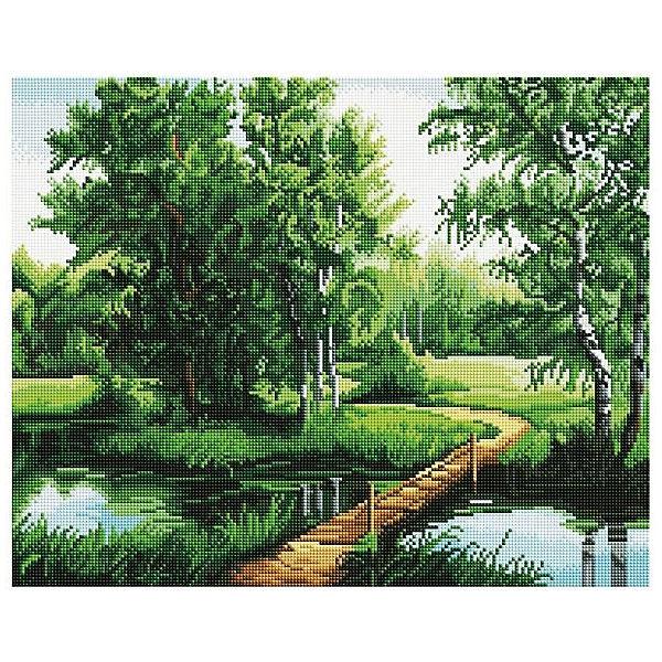 """Картина мозаикой """"Мостик в лесу"""", 40*50 см"""