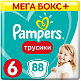 Трусики Pampers Pants 15кг+, размер 6, 88 шт.