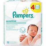 Салфетки детские влажные Pampers  Sensitive,  224 шт., Pampers