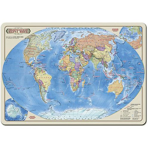 """Карта-пазл """"Мир политический"""" 33*47 см, М 1:65 млн, 260 деталей от ГеоДом"""