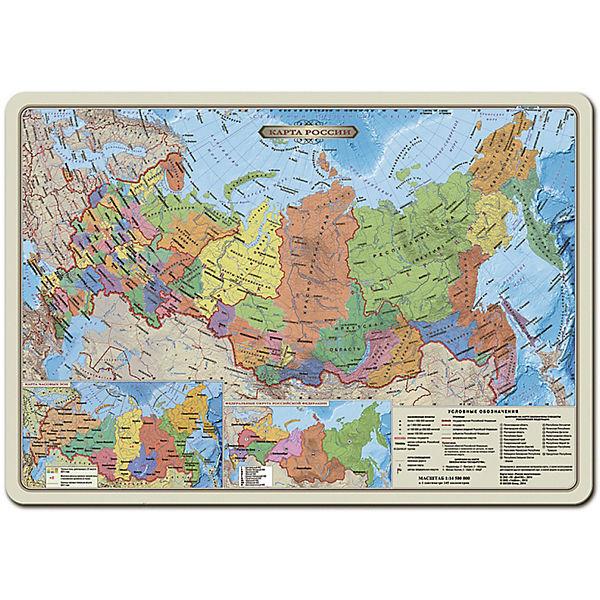 """Карта-пазл """"Россия политическая"""" 33*47 см, М 1:14,5 млн, 260 деталей"""