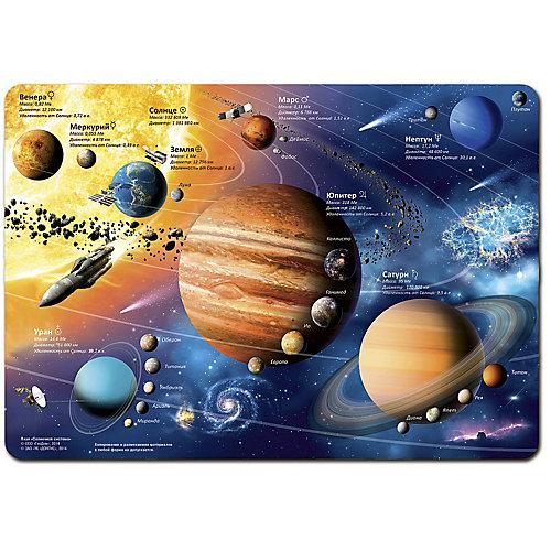 """Карта-пазл """"Солнечная система"""" 33*47 см, 260 деталей от ГеоДом"""
