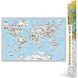 """Карта-Раскраска """"В мире динозавров"""" 101*69 см"""